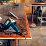 Custom copper edging for granite kitchen counters